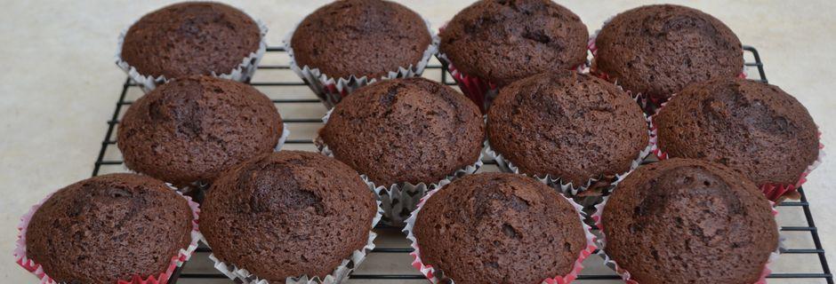 Muffins au chocolat amer