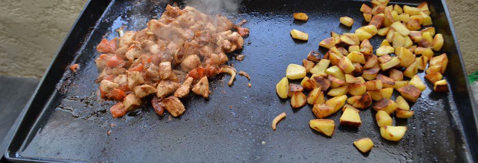 Sauté de poulet  sauce teriyaki à la plancha