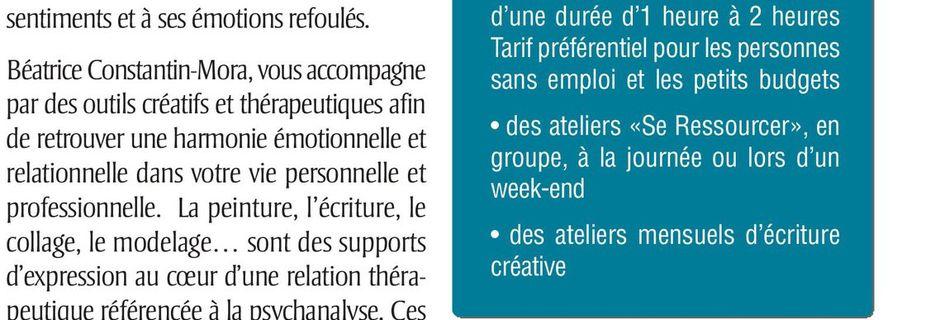 Art-thérapeute analytique, article paru dans Totem Magazine n°14