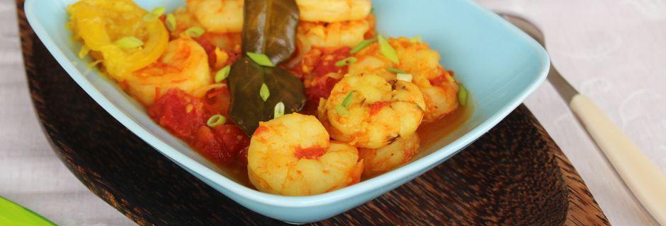 Cari Crevettes au Combava- Réunion-