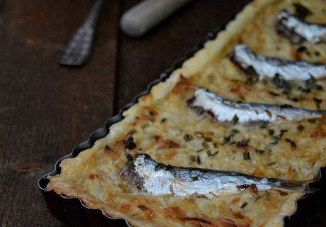 Tarte Oignons - Sardines