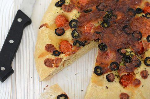 Focaccia Tomates - Olives