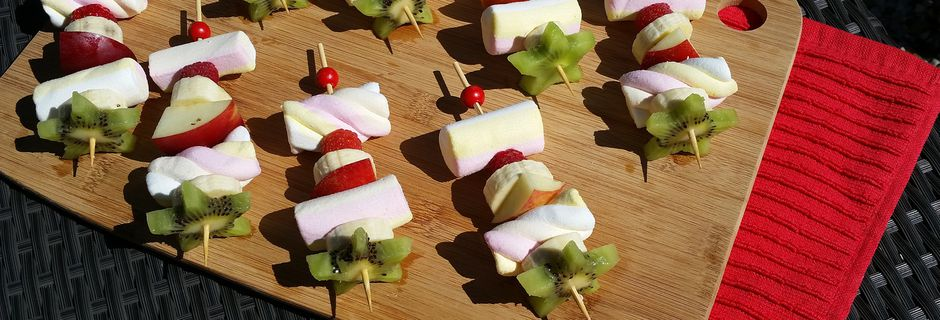 Brochette de Fruits et Guimauve