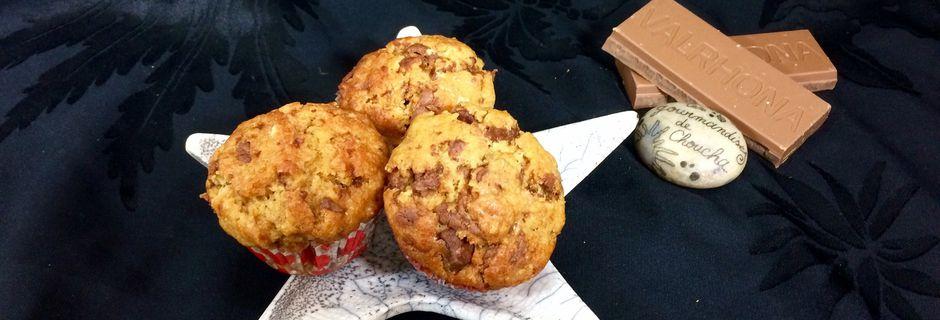 Muffins aux chunk de chocolat caramelia
