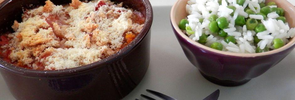 Crumble Saumon/Cabillaud aux saveurs italiennes