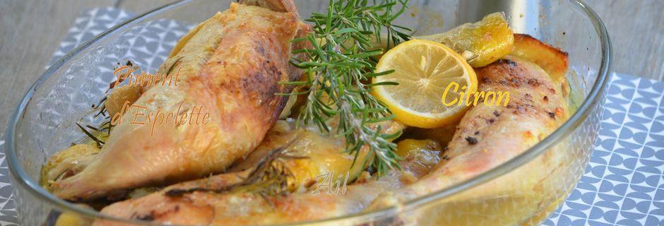 Cuisses de poulet citron & romarin