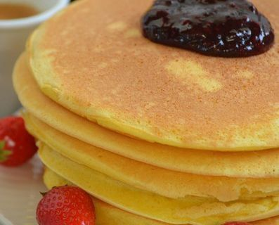 Pancakes extra moelleux {concours inside # confiture Famille Mary}