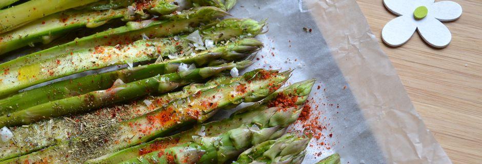 Asperges vertes à l'huile d'olive au four