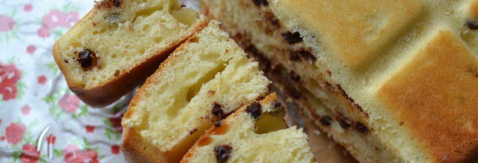 Plum cake soffice alla ricotta e cioccolato