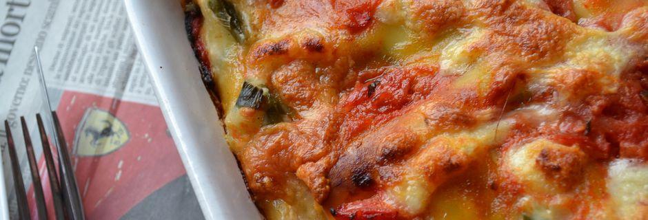 Cannelloni aux poireaux