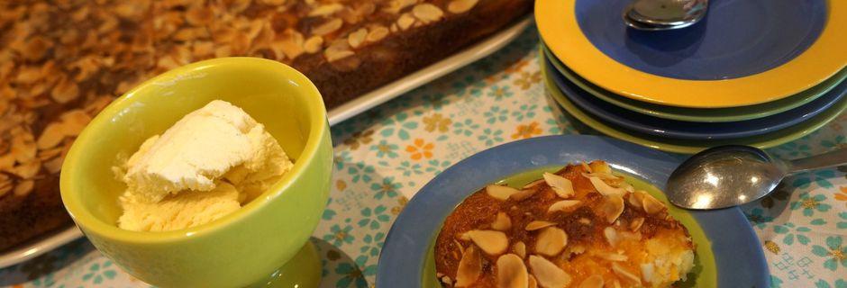 Flan aux abricots, romarin et amandes