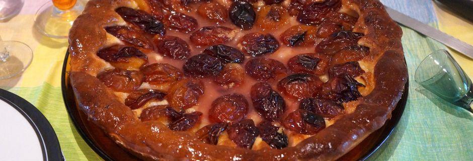 Tarte Briochée aux Prunes d'Ente
