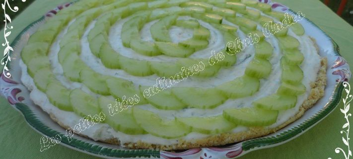 Cheesecake aux concombres