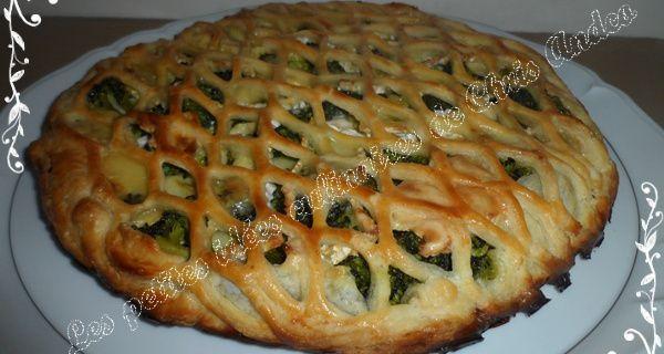Tourte brocolis, noix et camembert