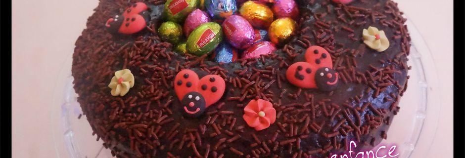 Cake nid de pâques