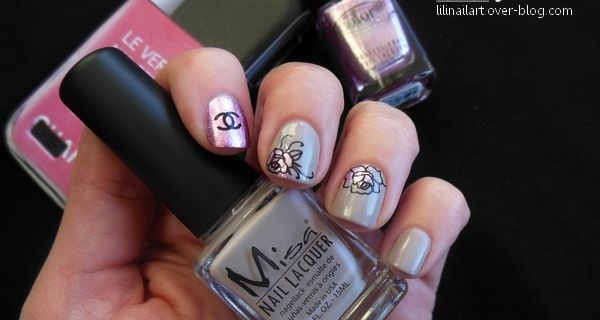 Nail art Roses (water decals) & Personnalise Ta Coque