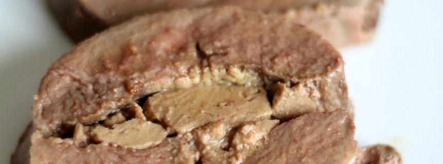 Rôti de magrets de canard farci au foie gras