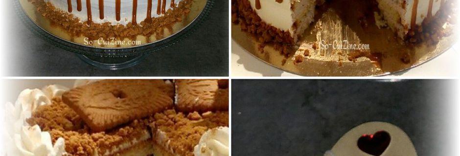 Zoom sur le dernier layer cake spéculos