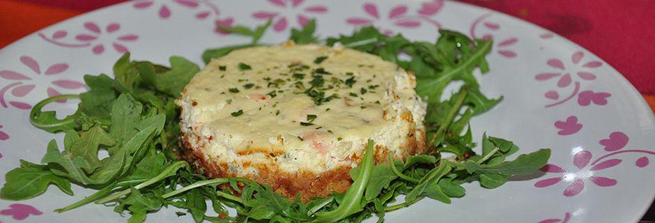 Délice de saumon sur sablé au fromage