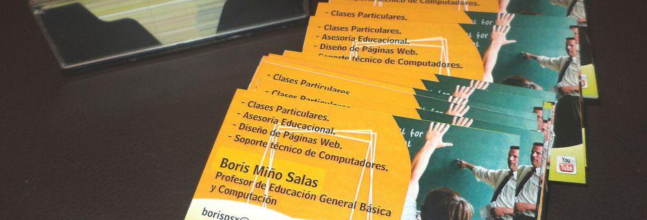 200 Tarjetas de Presentación Profesor Boris