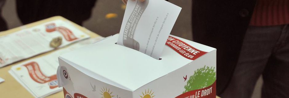 La votation citoyenne du Parti de gauche Montreuil