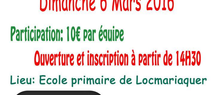 CONCOURS DE BELOTE Dimanche 6 Mars 2016