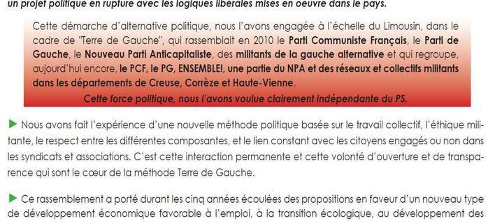 Limousin Terre de Gauche : l'appel aux régions