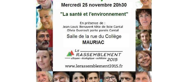 Réunion publique à Mauriac