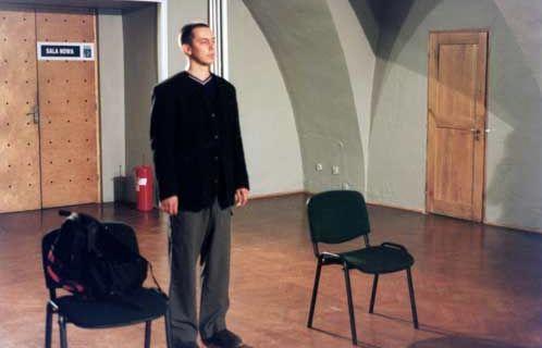 Oto w co ja gram @ Dariusz Fodczuk. 2000. Centrum kultury. Lublin. photo. W. Bobrowski