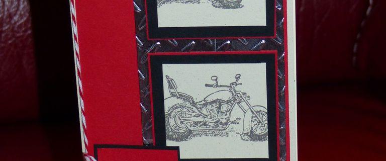 Carte d'anniversaire moto