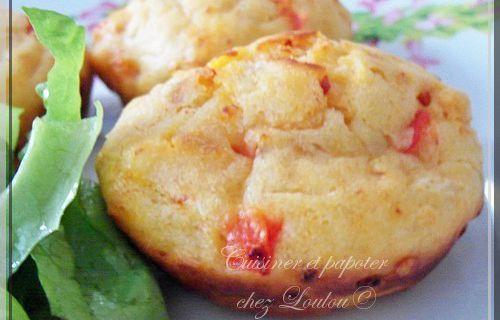 Muffins chorizo poivron