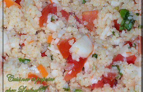 Salade de semoule au surimi