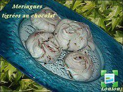 Meringues tigrées au chocolat