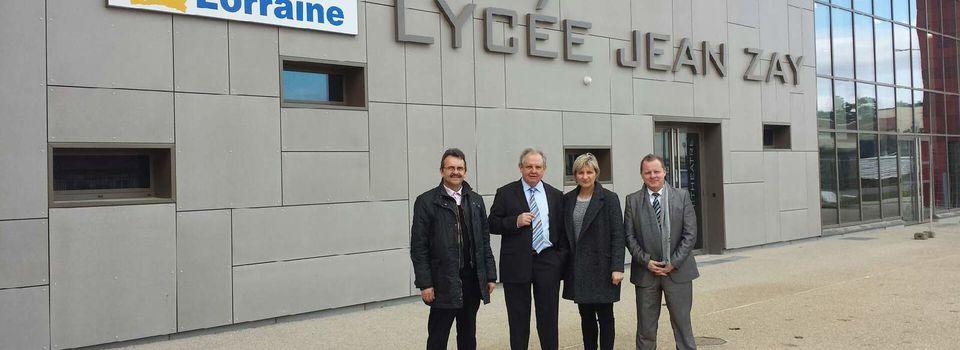 Visite au Lycée Jean Zay à Jarny: magnifique outil au service de la réussite scolaire