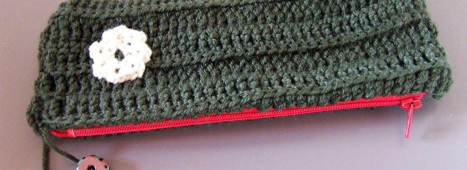 Trousse crochet et tissu