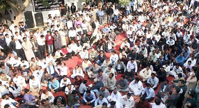 Strike and Protest by PIA employees