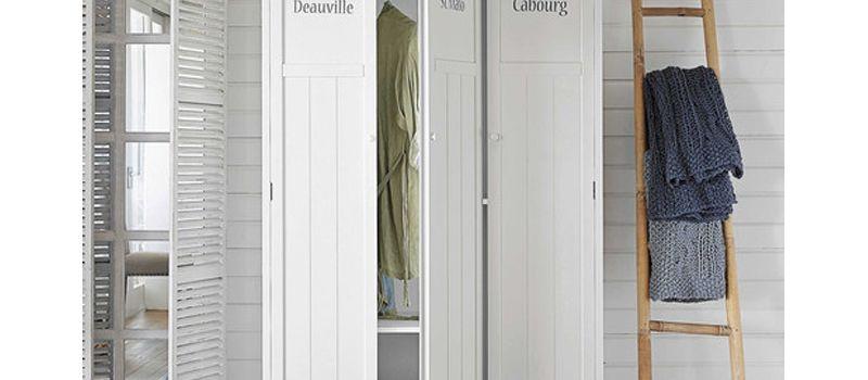 Déco chambre : armoire penderie en bois blanc