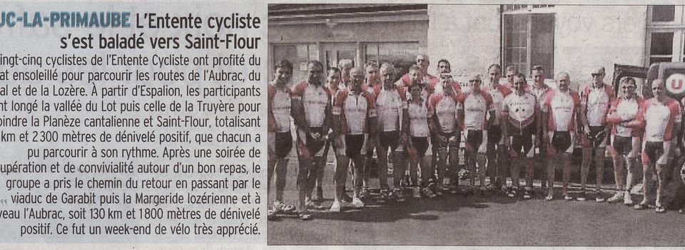 Article Centre Presse weekend St Flour