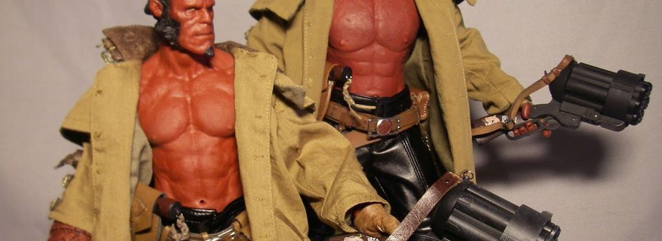 HOT TOYS HELLBOY 2 THE GOLDEN ARMY MMS83 MOVIE MASTERPIECE vs HELLBOY CUSTOM 1/6e  Scale Dossier Comparatif !