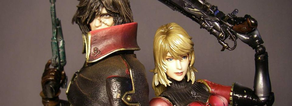 PLAY ARTS SPACE PIRATE CAPTAIN HARLOCK & KEI ALBATOR & NAUSICAA