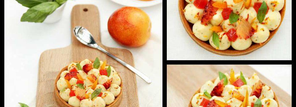 Tartelette Orange Sanguine et Basilic