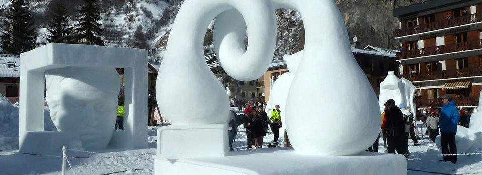 Sculptures sur neige de Valloire Janvier 2015