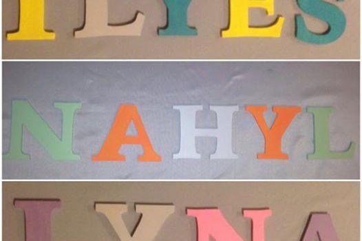 Lettres en bois prénom