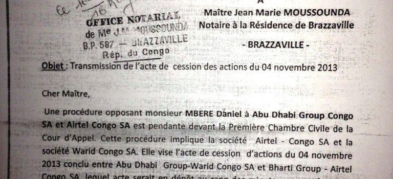 """La Cour d'appel demande à Me Moussounda de produire """"sous huitaine"""" l'acte de cession de Warid"""