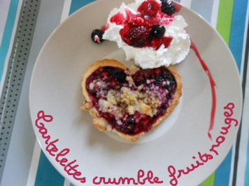 Tartelette crumble fruits rouges°