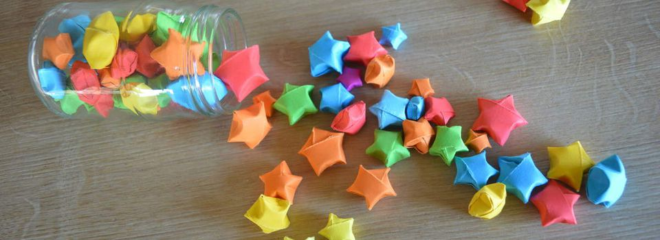 """L'origine des étoiles en papier  """"étoiles de chance"""""""