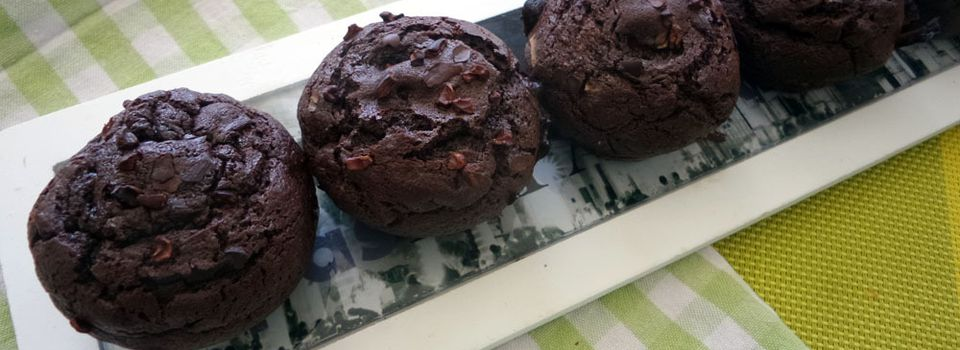 Recette : muffins legers chocolat framboise