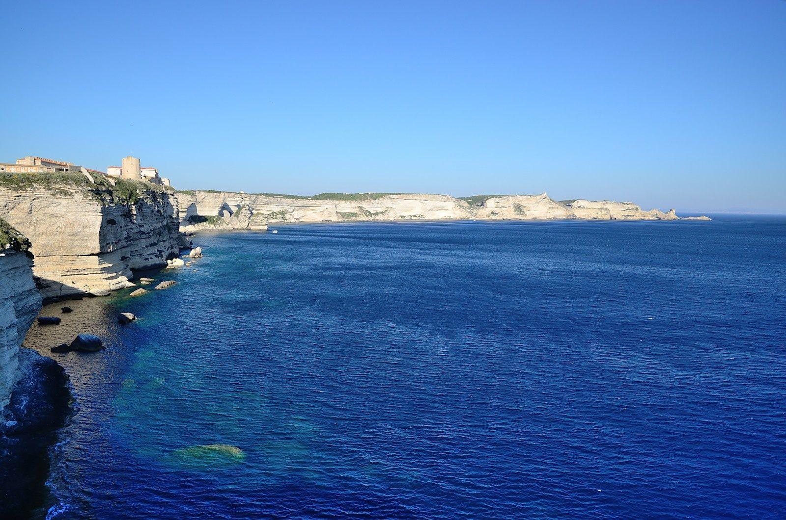 Les falaises au Sud de Bonifacio