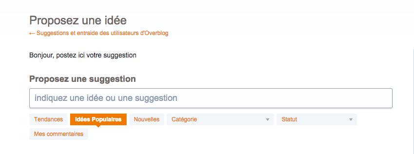 La boite à idée d'Overblog