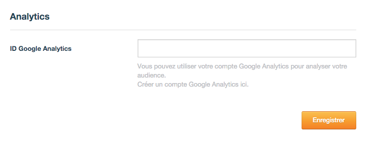 L'insertion de l'ID Google Analytics dans l'administration Overblog